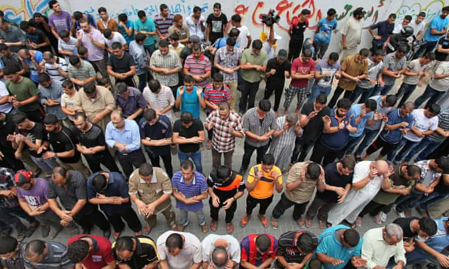 Funeral of Gaza police chief's relatives