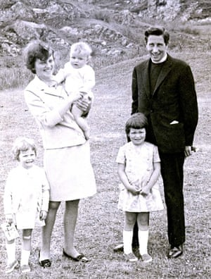 Douglas Alexander (in his mother's arms) and his family at his baptism on the Isle of Iona
