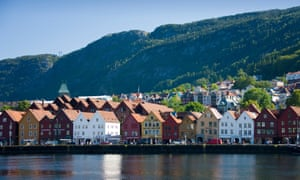 Historic centre of Bergen, Norway's second city.