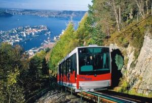 Bergen from the Fløyen funicular.