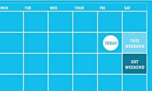 Oxt weekend planner