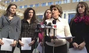 Uconn students with lawyer Gloria Allred