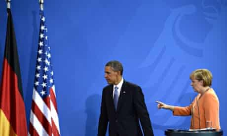 Barack Obama and Angela Merkel,