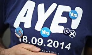 Yes Scottish referendum voters in Glasgow