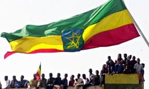 Ethiopian flag flies in Addis Ababa