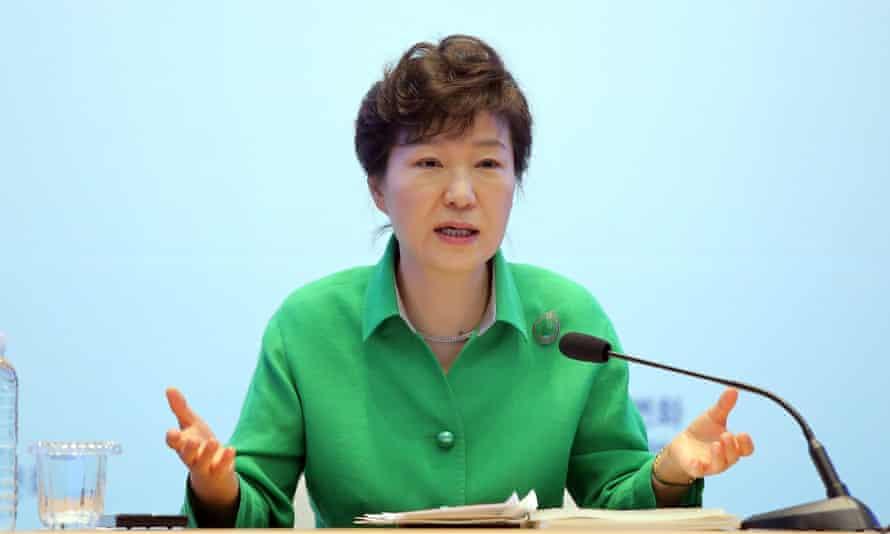 South Korean President Park Geun-hye.