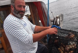 Johan took us on his boat for the afternoon, where we caught mackerel and hauled up crab pots.
