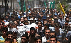 Palestinian mourners