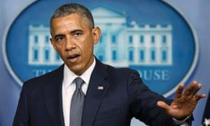 President Barack Obama speaking about Ukraine.