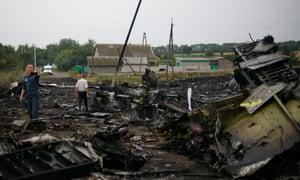 Wreckage of a Malaysia Airlines flight MH17 near Grabovo and Rassypnoye. ukraine
