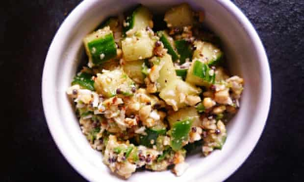 leftover cucumber recipe Khamang kakdi Indian cucumber salad