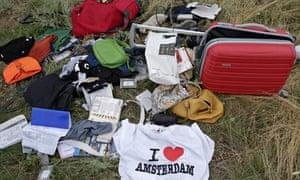 Personal belongings of MH17 passengers