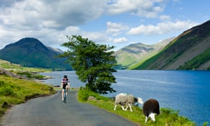 Cyclist in the Lake District