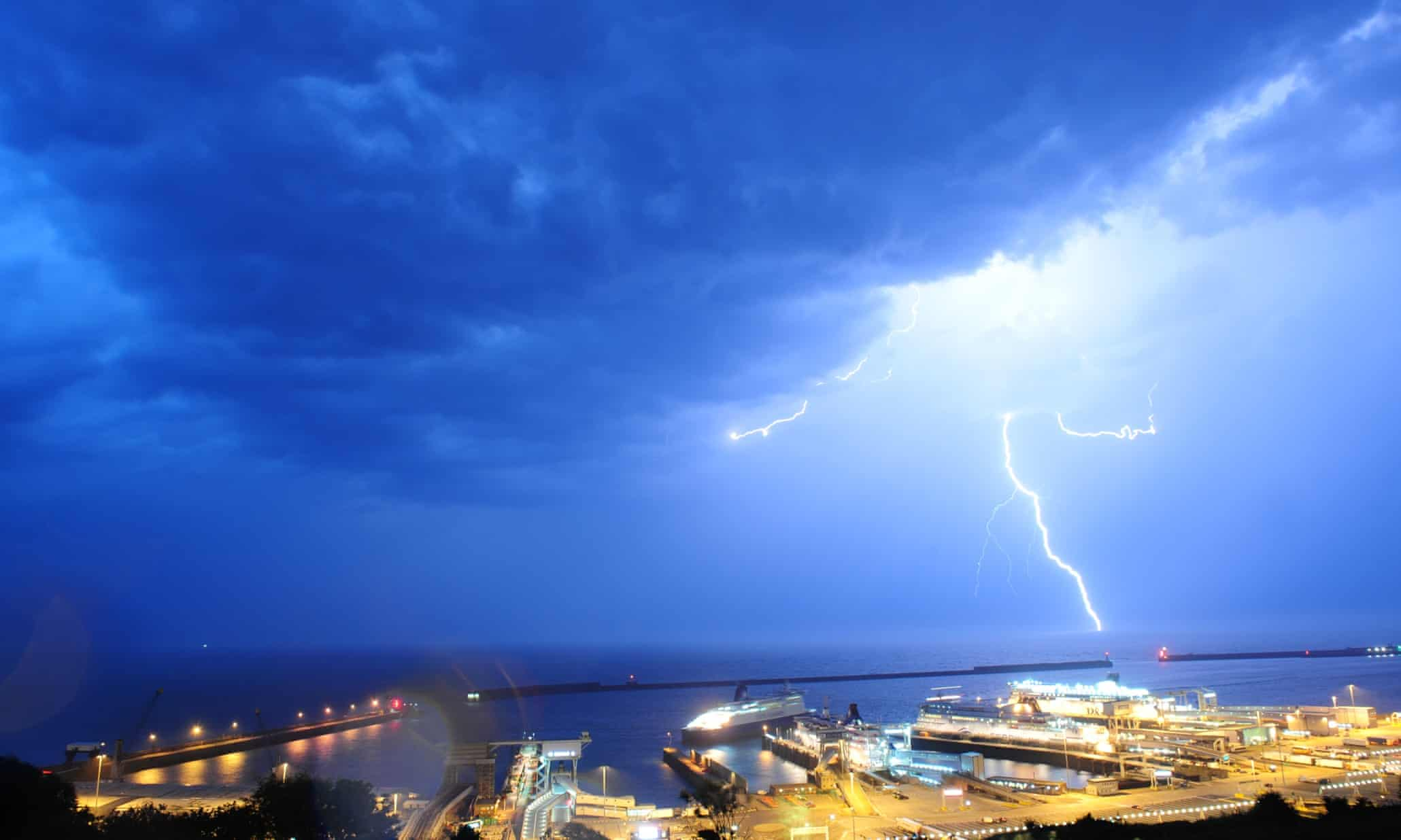 Lightning strikes the UK - in pictures