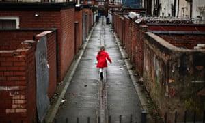 Child in Gorton Manchester
