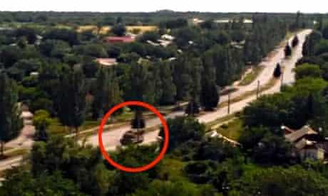 Buk missile system on video said to be eastern ukraine hours before aeroplane crash