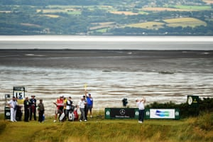 The forecast thunderstorms didn't materialise as play continued without interruption. The heavy rain had stopped by the time the leaders had teed off in the morning and returned when McIlroy was giving a press conference after he had completed his round.