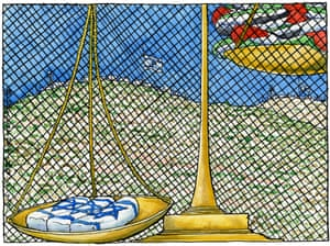 Steve Bell's view of Israel's reaction to the killing of three Israeli teenagers