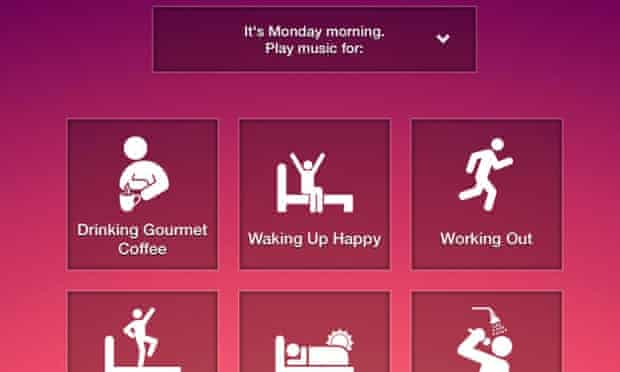 Songza has more than 5.5m active listeners for its contextual playlists.