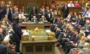 David Cameron is taking PMQs