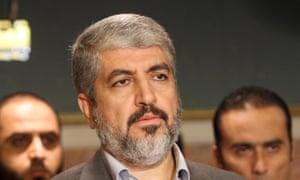 The political leader of Hamas Khaled Mashaal.