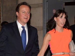 David and Samantha Cameron at the Conservative party summer ball 2013