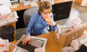 """""""The lunch-hour has gone; people just have a sandwich at their desk and carry on working"""" - Professor John Ashton."""