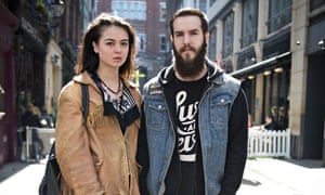 Hipster couple on Carnaby Street, Soho, London