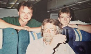 John Niven with Richard Branson in the 90s