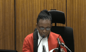Judge Thokozile Masipa gives her ruling on the admissibility of email evidence.