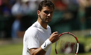 Grigor Dimitrov looking comfortable in the first set.