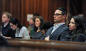 Carl and Aimee Pistorius, siblings of Oscar Pistorius, attend his trial today.
