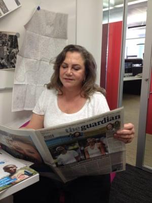 Kathleen Turner at the Guardian
