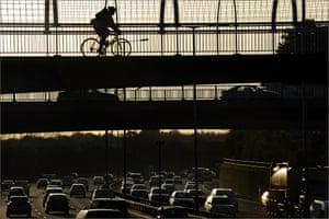 M60 orbital motorway, Greater Manchester.