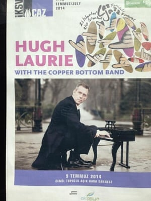 'Looking forward to seeing Hugh Laurie perform in Istanbul during Ramadan. This will be my treat after iftar and magrib prayer. A bit of Laurie sans Fry!'