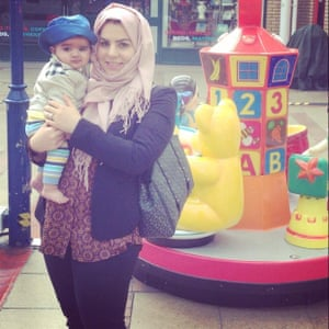 'This is the first Ramadan with my newborn baby Baz. Here we are posing together after a long day of shopping and Ramadan preparation.'