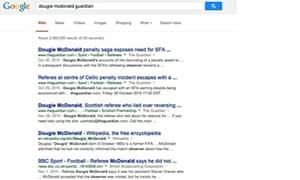 Screenshot of Google US
