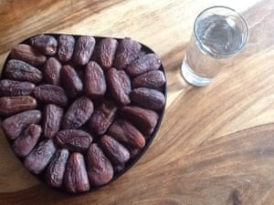 'Water and dates.'