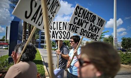 Activists Demonstrate Against Sen. Rubio's Miami Office