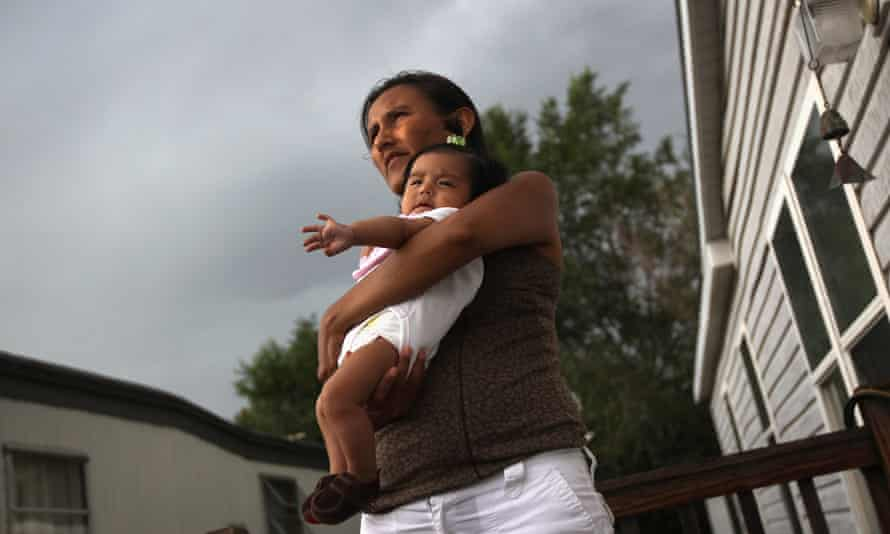 An undocumented immigrant and her daughter Zury in Denver, Colorado.