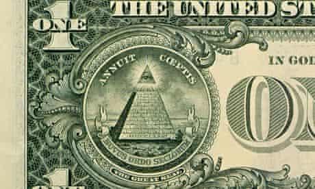 pyramid great seal US one dollar bill