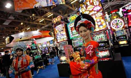 A model at the Global Gaming Expo Asia in Macau