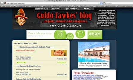 The Guido Fawkes political website