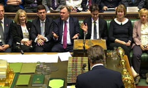 Labour front bench reaction to David Cameron speaking, 2 July 2014.