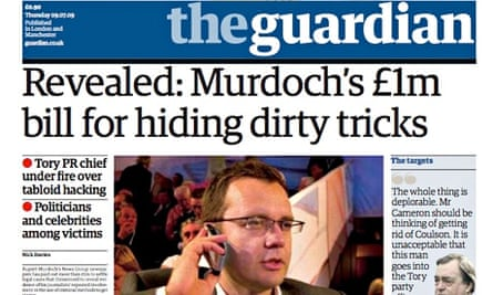 Guardian front page of 9 July 2009