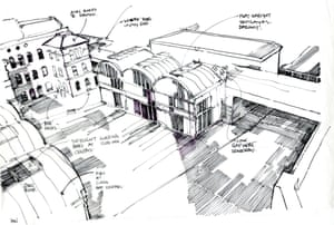 Local architect and campaigner Benedict O'Looney's re-envisioning of Peckham Rye railway station.