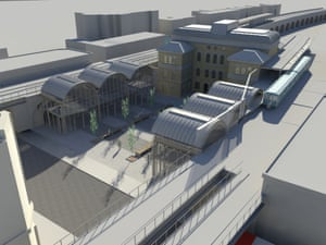 Architect Benedict O'Looney's 3D renderings of Peckham station.