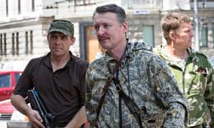 Igor Strelkov and troops