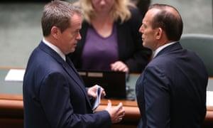 Bill Shorten and Tony Abbott