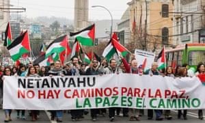 Gaza protest Chile